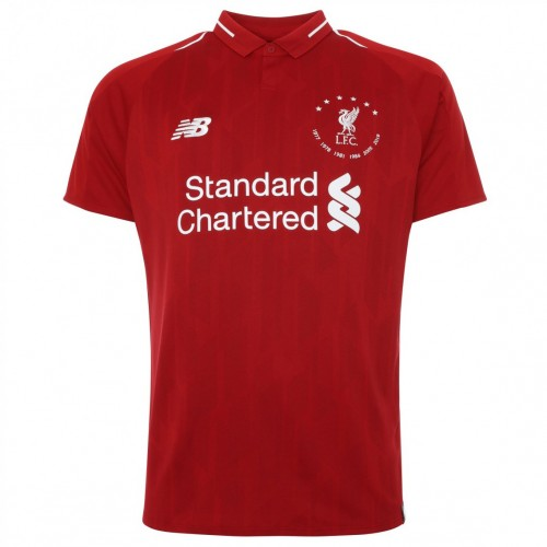 """MAILLOT LIVERPOOL DOMICILE COLLECTION """"6 TIMES"""" 2019-2020"""