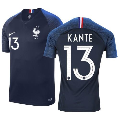 MAILLOT FRANCE DOMICILE KANTE 2 ETOILES 2018-2019