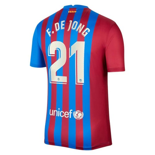 MAILLOT FC BARCELONE DOMICILE DE JONG 2021-2022